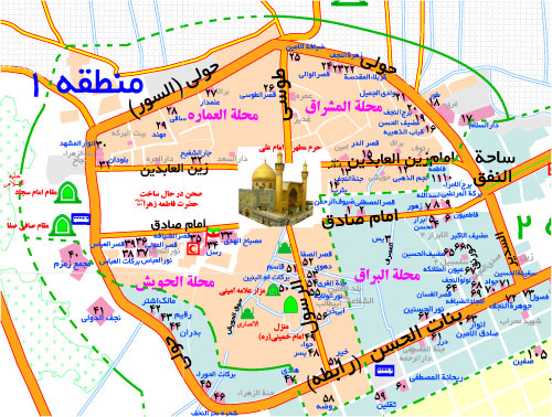 نقشه نجف اشرف